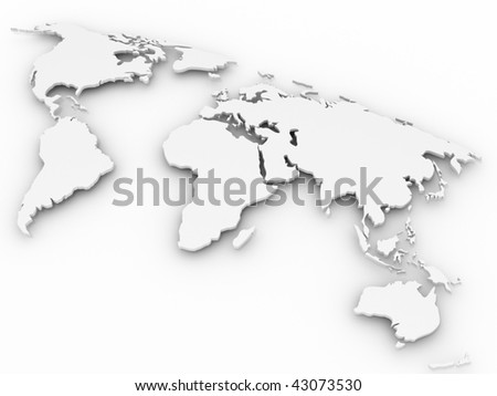 world map. 3d