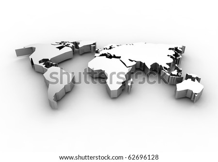 World map - 3d render