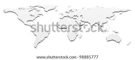 World map. 3d rendered background image
