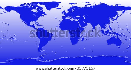world map dark blue