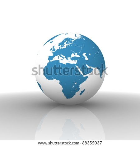 world map europe africa. stock photo : World map: