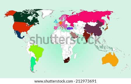 World map: G20 Nations #212973691