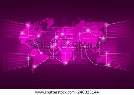 World map geography world order background shipping global purple