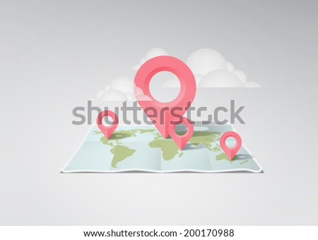 world map illustration #200170988