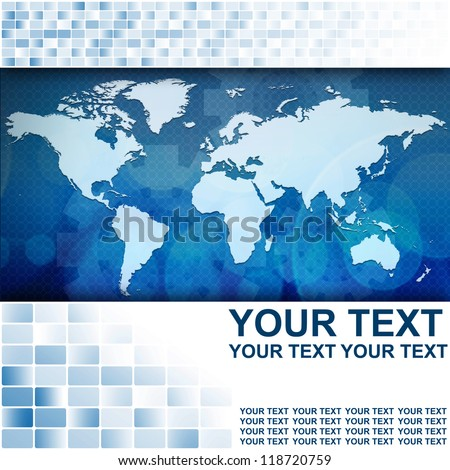 World map in Abstract business background