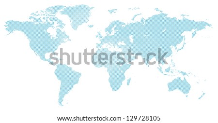 world map in blue halftone pattern