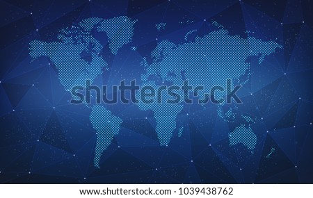 World Map Link Digital Backgrounds