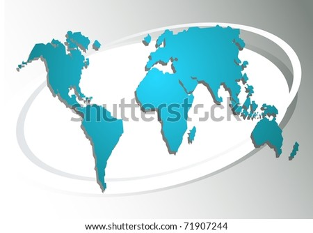 World map on a grey background