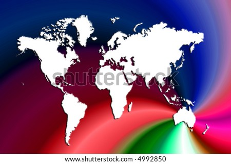 World map on colorful swirl background ez canvas world map on colorful swirl background gumiabroncs Gallery