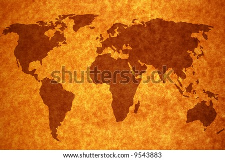 world map on old page background for your designs Map traced: http://www.lib.utexas.edu/maps/world_maps/world_pol02.jpg copyright:http://www.lib.utexas.edu/maps/faq.html#3.html