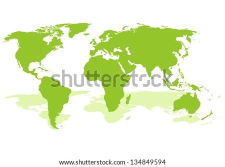 World map. Raster version