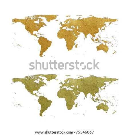Free world map recycled paper on white background data source world map recycled paper on white background data source nasa 75546067 gumiabroncs Images