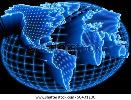 Of global information and technology of communication stock photo