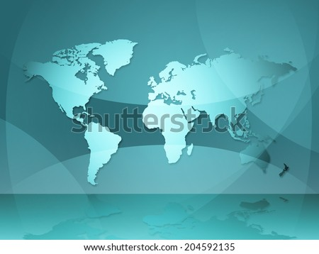 World Map Showing Worldwide Design And Backdrop