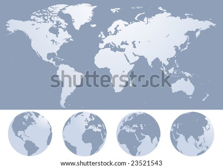 world map silhouette illustration