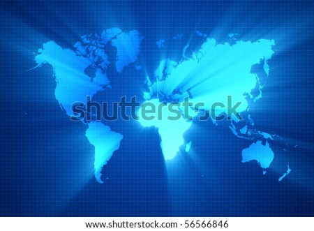 World map technology-style