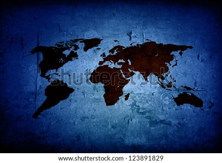 world map vintage artwork - perfect background with space