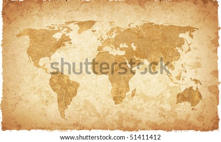 world map vintage artwork  ...