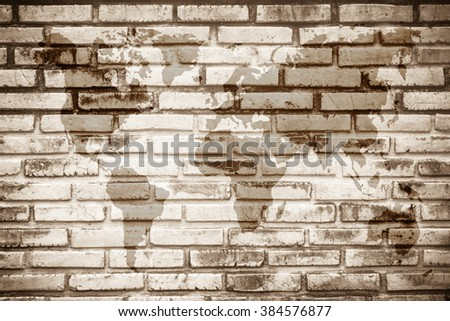 Free photos world map vintage pattern for black and white brick wall world map vintage pattern for black and white brick wall texture background wall texture background gumiabroncs Gallery