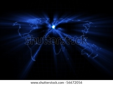 germany world map. stock photo : World map with