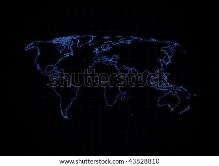 world map outline black. stock photo : World map with