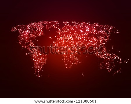 The Conscious Army  Stock-photo-world-map-with-points-of-light-as-a-symbol-of-global-christmas-121380601