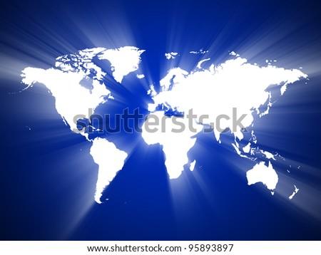World Map, World background, Light of the World