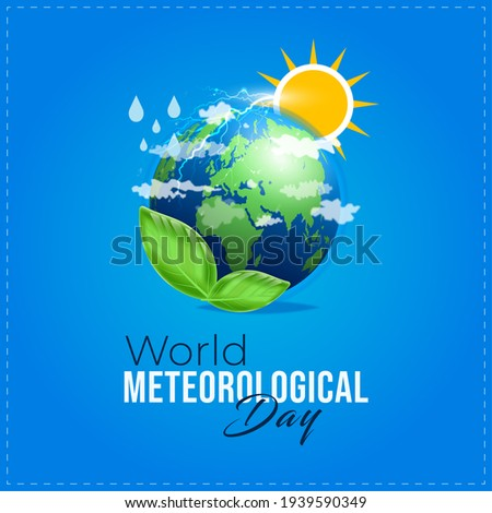World Meteorological Day. sky blue abstract background Foto stock ©