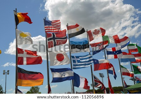 World national flags - stock photo