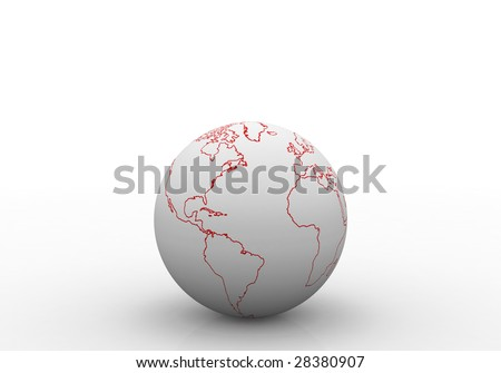 blank map of the world with continents. lank map oflabeled