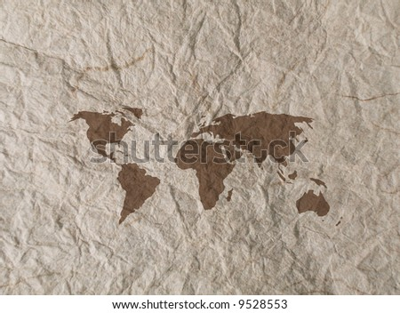 outline world map with continents. world map outline continents.