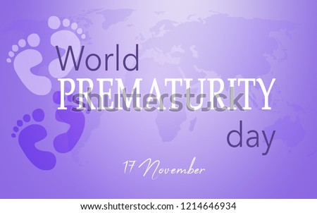 World Prematurity day, 17 November, Purple background Foto stock ©