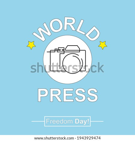World Press Freedom Day creative illustration with flat design concept. Design with a photo camera. May 3, 2021 Foto d'archivio ©