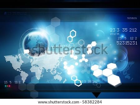 World Technology Background.
