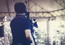 World Television Day Concept: Media recording video