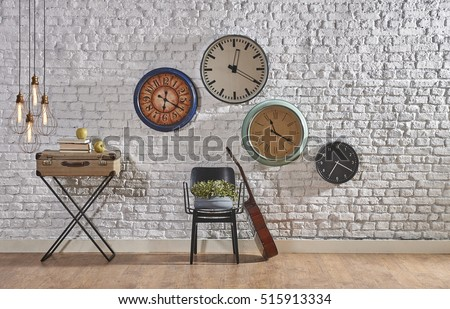 world time interior concept ...
