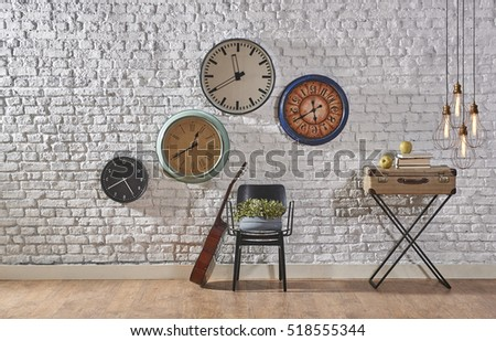 world time interior concept, modern lamp