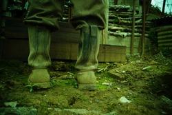 World war I boots soldier