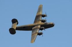 World War II era heavy American bomber