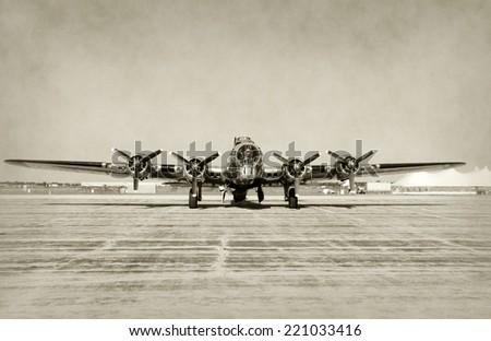 world war ii era heavy bomber...