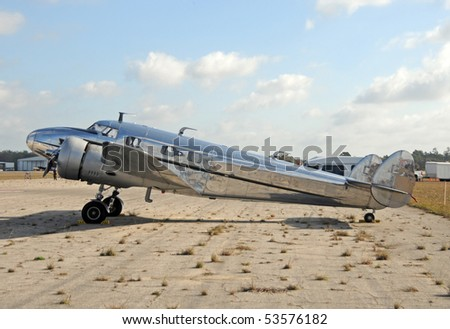 World War II era transport airplane side view