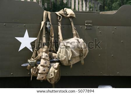 World War II - historical warfare. Army equipment. - stock photo