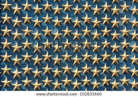 World War II Memorial stars detail - Washington DC United States