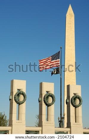 World War Ii Memorial Washington D.c. Dc. stock photo : World War II