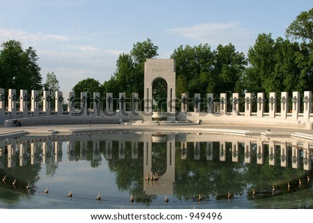 world war two memorial in washington d.c. - stock photo