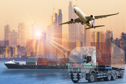 world wide cargo transport or global business commerce concept or import-export commercial logistic ,shipping business industry
