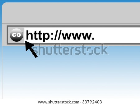 World Wide Web browser background with cursor arrow.