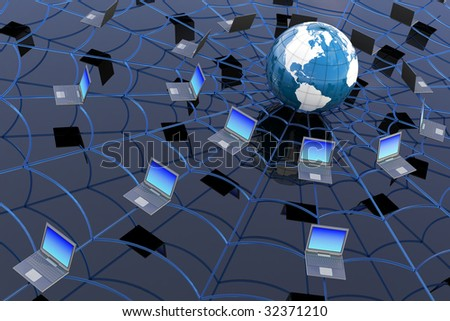 World Wide Web concept. Hi-res digitally generated image.
