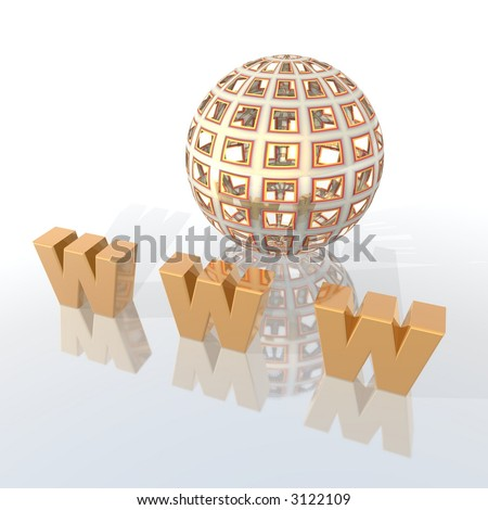 World Wide Web 3d illustration