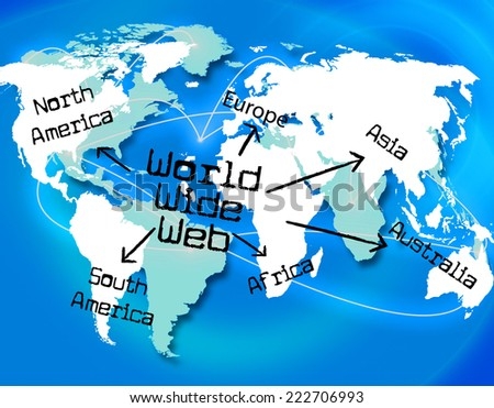World Wide Web Internet Connection Virtual Telecommunication Shows Cyberspace Access And Smart Cyber Interconnection To Connect To Data Or For Ecommerce